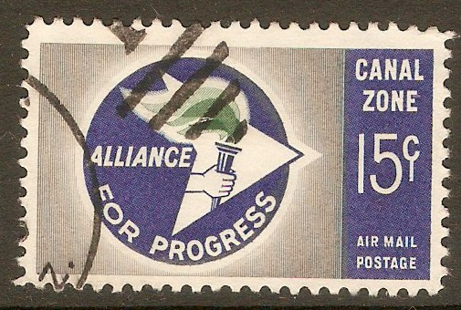 "Canal Zone 1963 15c ""Alliance for Progress"". SG225."