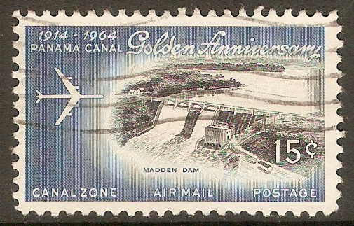 Canal Zone 1964 15c Canal Anniversary series. SG228.