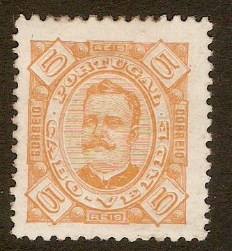 Cape Verde Islands 1894 5r Pale orange. SG37.