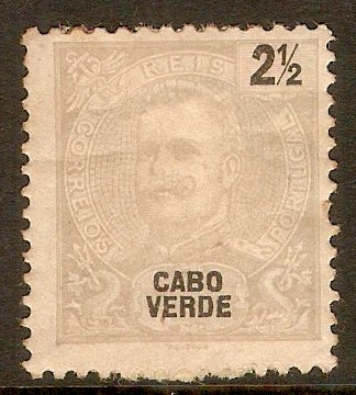 Cape Verde Islands 1898 2½r Pale grey. SG60.