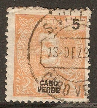 Cape Verde Islands 1898 5r Orange-yellow. SG61.