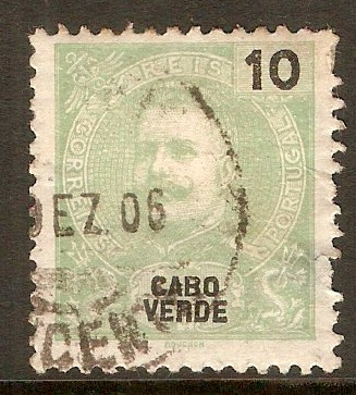 Cape Verde Islands 1898 10r Green. SG62.