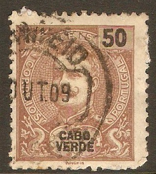 Cape Verde Islands 1903 50r Brown. SG113.