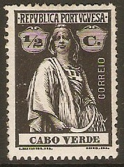 Cape Verde Islands 1920 ½c Black. SG210.