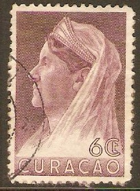 Curacao 1936 6c Purple Queen Wilhelmina series. SG160.