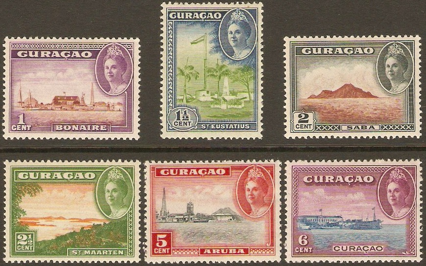 Curacao 1942 Views of Curacao Postage Set. SG195-SG200.