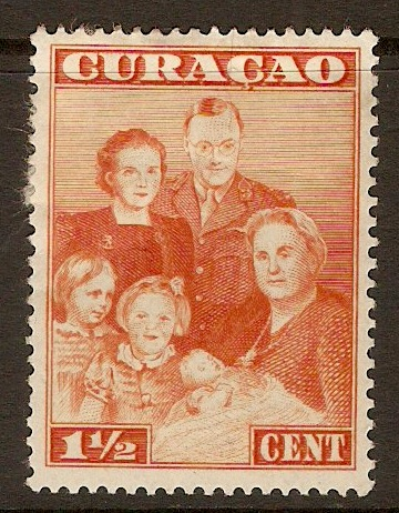 Curacao 1943 1½c Royal Family Series. SG216.