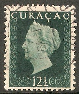 Curacao 1948 12½c Blue-green. SG287.
