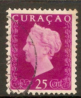 Curacao 1948 25c Bright purple. SG291.