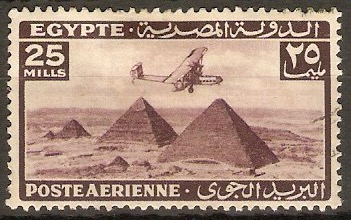 Egypt 1941 25m Purple - Air Stamps Series. SG287a.