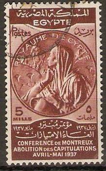 Egypt 1937 5m Montreux Conference series. SG259.