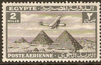 Egypt 1933 2m Black and grey Air Series. SG194.