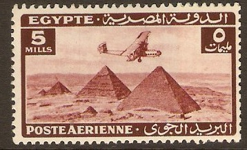 Egypt 1941 5m Brown - Air Stamps Series. SG285.