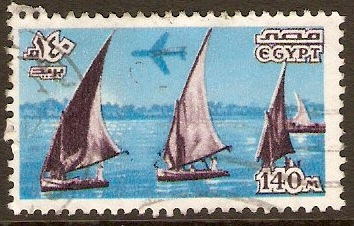 Egypt 1978 140m Lilac and blue Air Series. SG1337.