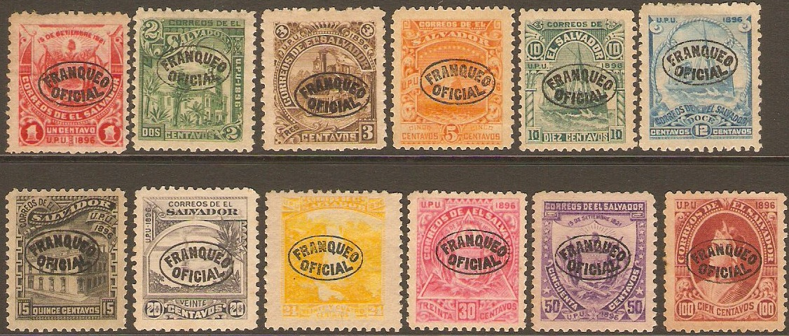 El Salvador 1897 Official Set. SGO232-SGO243.