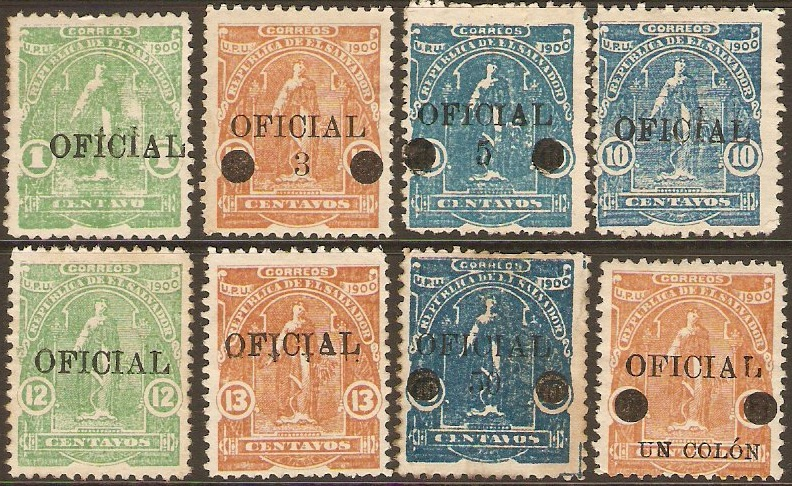 El Salvador 1911 Official Set. SGO667-SGO674.