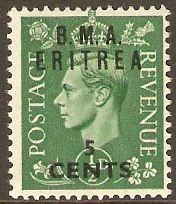 Eritrea 1948 5c on ½d Pale green. SGE1.