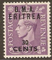 Eritrea 1948 30c on 3d Pale violet. SGE5.