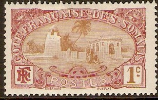 French Somali Coast 1909 1c Bistre-brown and maroon. SG151.