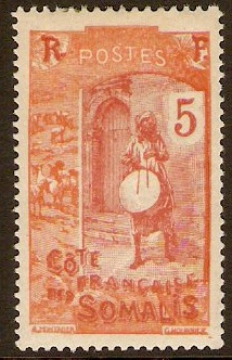 French Somali Coast 1922 5c Brown-red and red. SG195.
