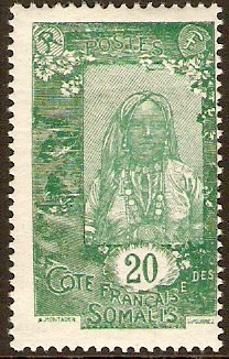 French Somali Coast 1922 10c Green and yellow-green. SG196.