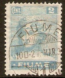 Fiume 1919 2c Light blue. SG32.
