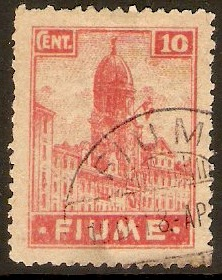 Fiume 1919 10c Rose-red. SG36.