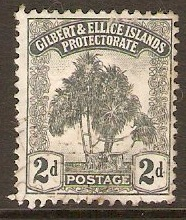 Gilbert and Ellice Islands 1911 2d Grey. SG10.