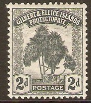 Gilbert and Ellice 1911 2d Grey. SG10.