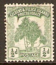 Gilbert and Ellice Islands 1911 ½d Green. SG8.