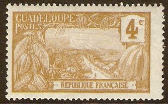 Guadeloupe 1905 4c Brown on pale grey. SG63.