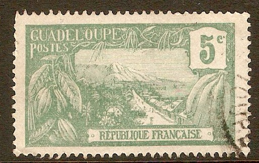 Guadeloupe 1905 5c Green. SG64.