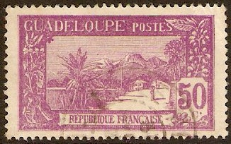 Guadeloupe 1928 3c Magenta and yellow. SG107.
