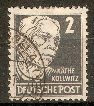 Germany 1948 2pf Slate-grey - Portraits Series. SGR33