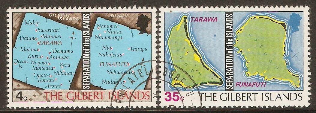 Gilbert Islands 1976 Islands Separation Set. SG1-SG2.