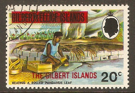 Gilbert Islands 1976 20c Overprint series. SG18.