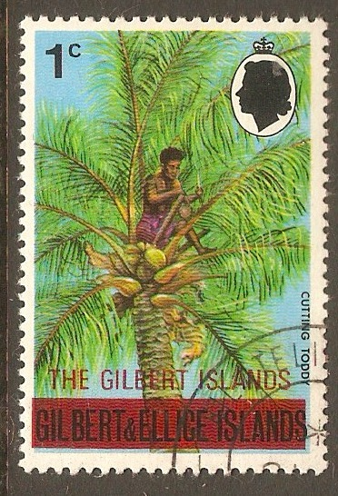 Gilbert Islands 1976 1c Overprint series. SG3.