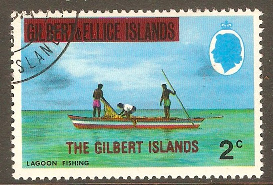 Gilbert Islands 1976 2c Overprint series. SG5.