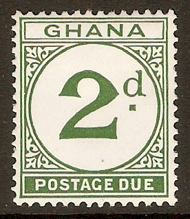 Ghana 1958 2d Green - Postage Due. SGD15.