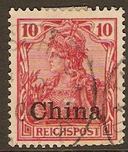 German P.O.s in China 1901 10pf Carmine. SG24.