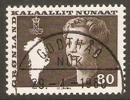 Greenland 1980 80ore Blackish brown. SG114.
