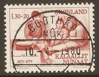 Greenland 1979 1k.30 +20ore Rasmussen Commemoration. SG111.