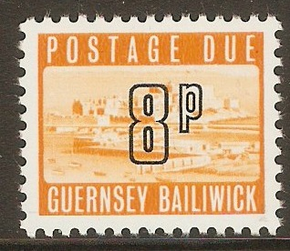 Guernsey 1971 8p Orange - Postage Due. SGD15.