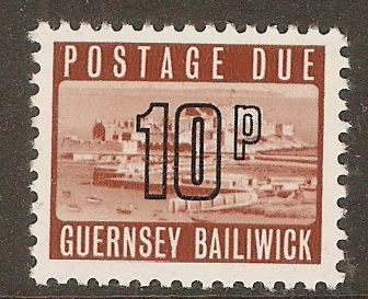 Guernsey 1971 10p Brown - Postage due. SGD16.