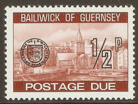 Guernsey 1977 ½p Brown - Postage Due. SGD18.