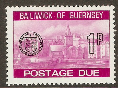Guernsey 1977 1p Purple - Postage Due. SGD19.
