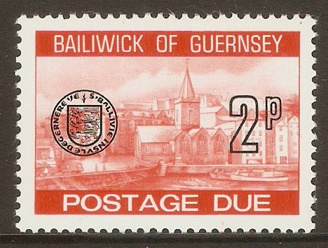 Guernsey 1977 2p Orange - Postage Due. SGD20.