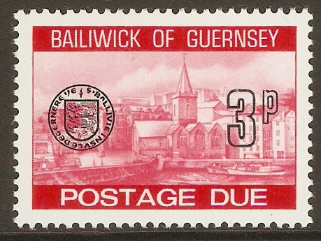 Guernsey 1977 3p Red - Postage Due. SGD21.