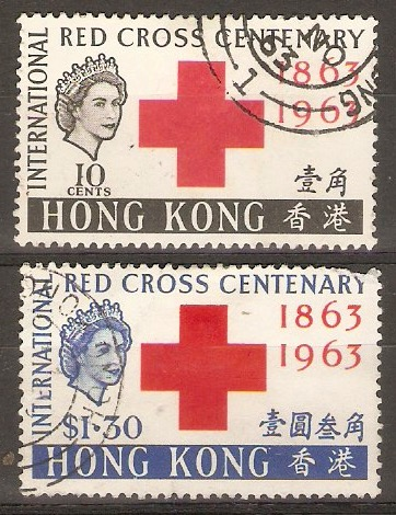 Hong Kong 1963 Red Cross set. SG212-SG213.