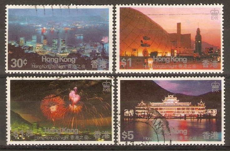 Hong Kong 1983 Night Views set. SG442-SG445.